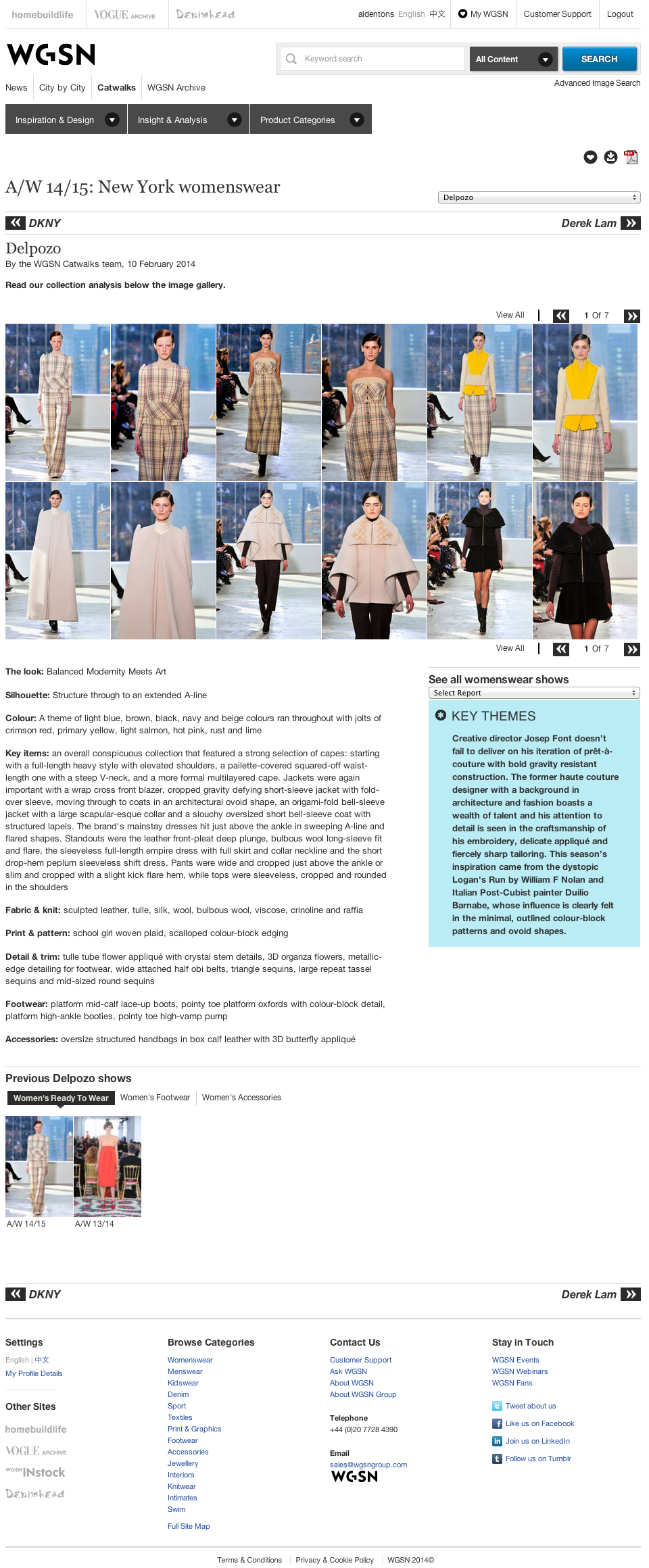 Delpozo aw1415 collection review